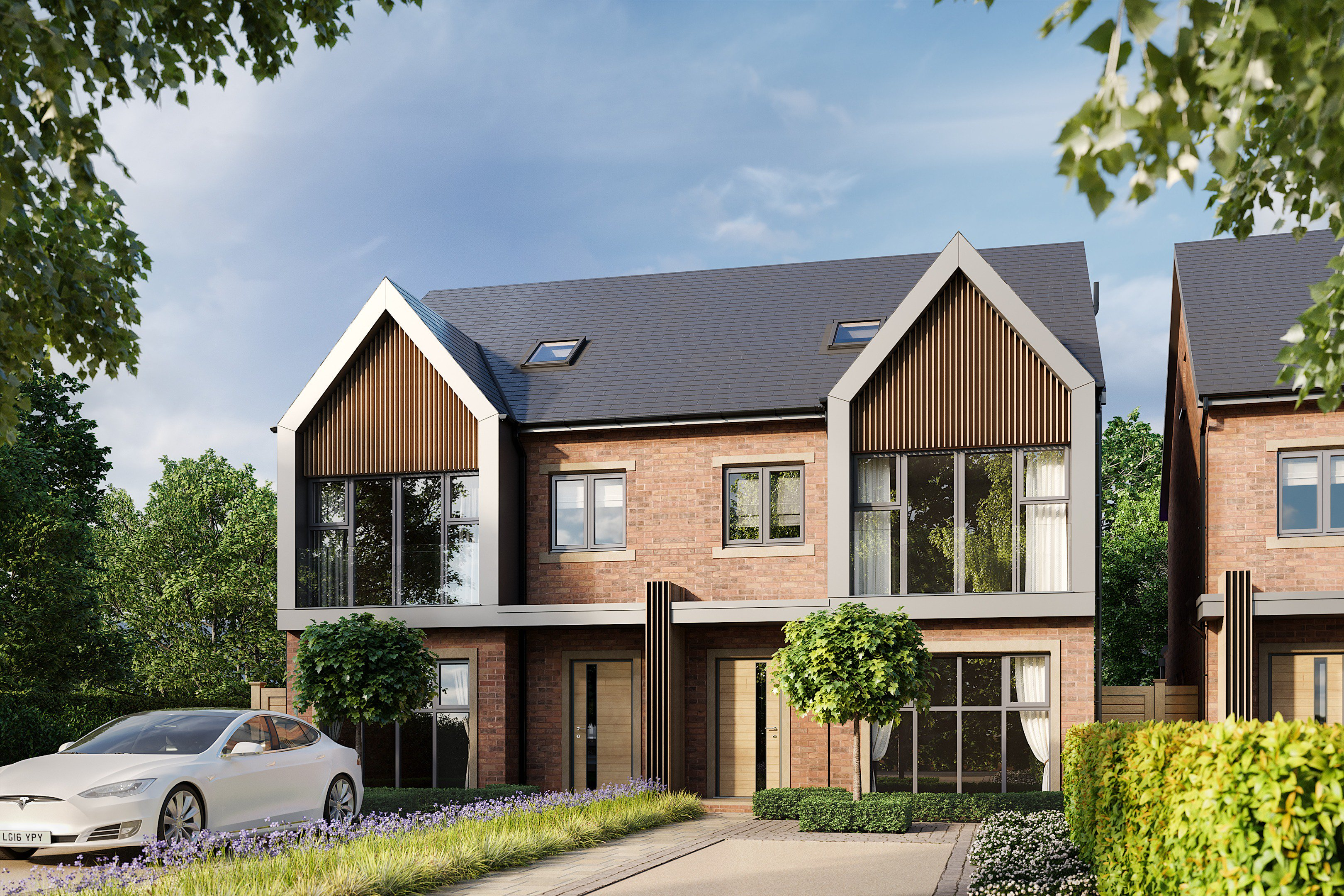 Brook Gardens Timperley, a pair of semi-detached houses